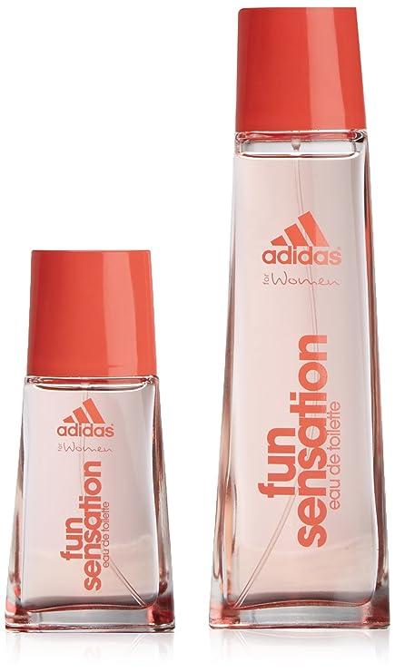 adidas Woman Fun Sensation - Agua de colonia, 2 piezas, 200 gr