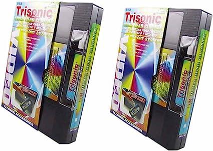 2 Video cinta casete de limpieza de cabezales para reproductor de VHS VCR Grabador Wet Dry Cleaner: Amazon.es: Oficina y papelería