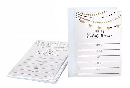 Amazon hallmark bridal shower invitation cards gold hearts hallmark bridal shower invitation cards gold hearts filmwisefo