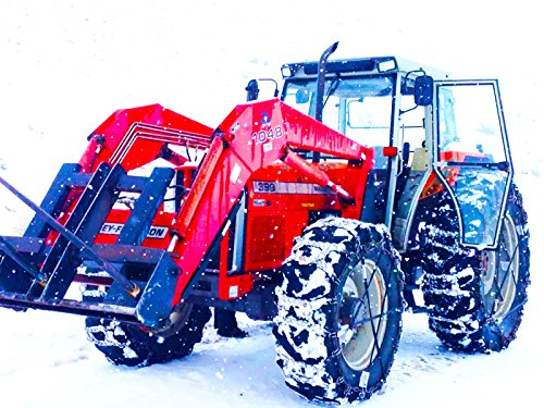 Farm Machines Working in the - Plow Snow