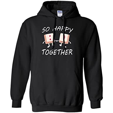 526df554 Doryti Keyboard Keys Smiley - So Happy Together Unisex Hoodie Tee at Amazon Women's  Clothing store: