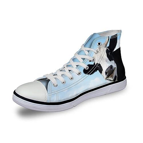 Showudesigns - Zapatilla Alta de Lona Mujer: Amazon.es: Zapatos y complementos