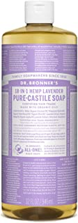 product image for Dr. Bronner's - Pure-Castile Liquid Soap (Lavender, 32 Fl Oz) - Made with Organic Oils, 18-in-1 Uses: Face, Body, Hair, Laundry, Pets and Dishes, Concentrated, Vegan, Non-GMO