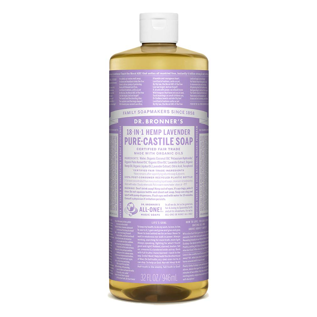 Dr. Bronner's - Pure-Castile Liquid Soap (Lavender, 32 ounce) by Brookside