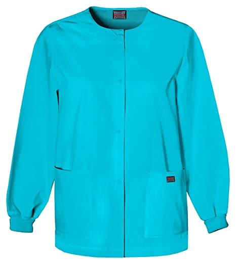 96c833b9efd Image Unavailable. Image not available for. Color: Cherokee Women's Snap  Front Warm-Up Jacket_Turquoise_XXXXX-Large,4350