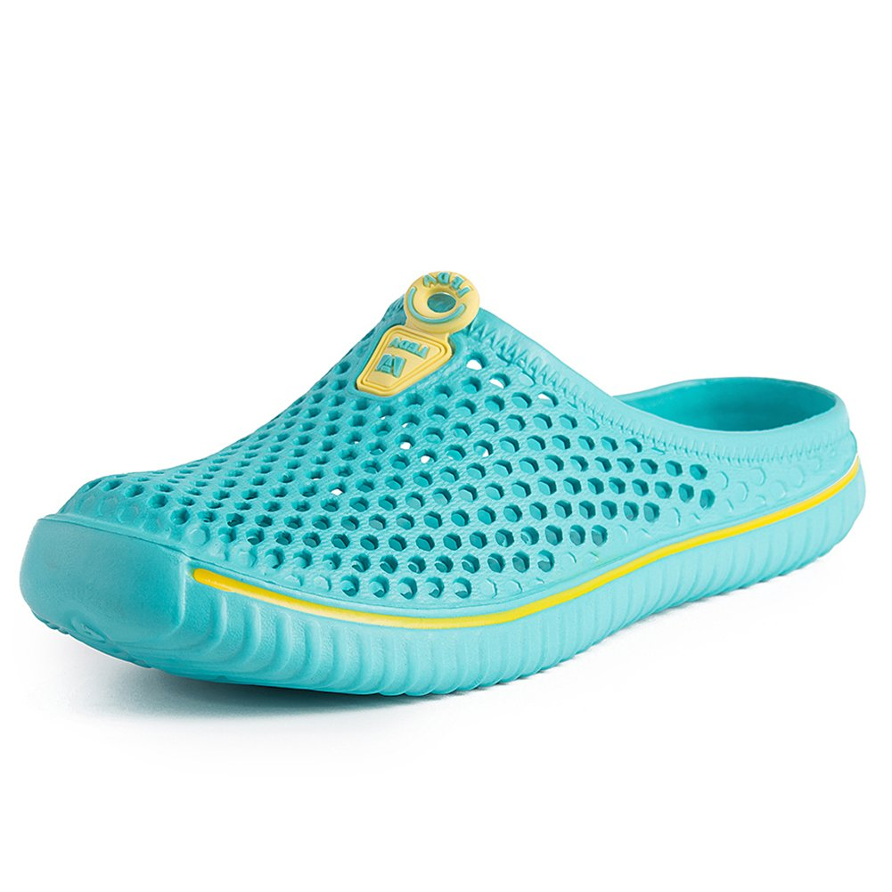 PutiTower Mens Womens Garden Clogs Shoes Sandal Comfortable Slippers (8 B(M) US Women/ 7 D(M) US Men, Blue&Green)