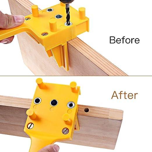Handheld Quick Wood Drilling Doweling Jig peg Drill Hole Locator Saw Cut Tools