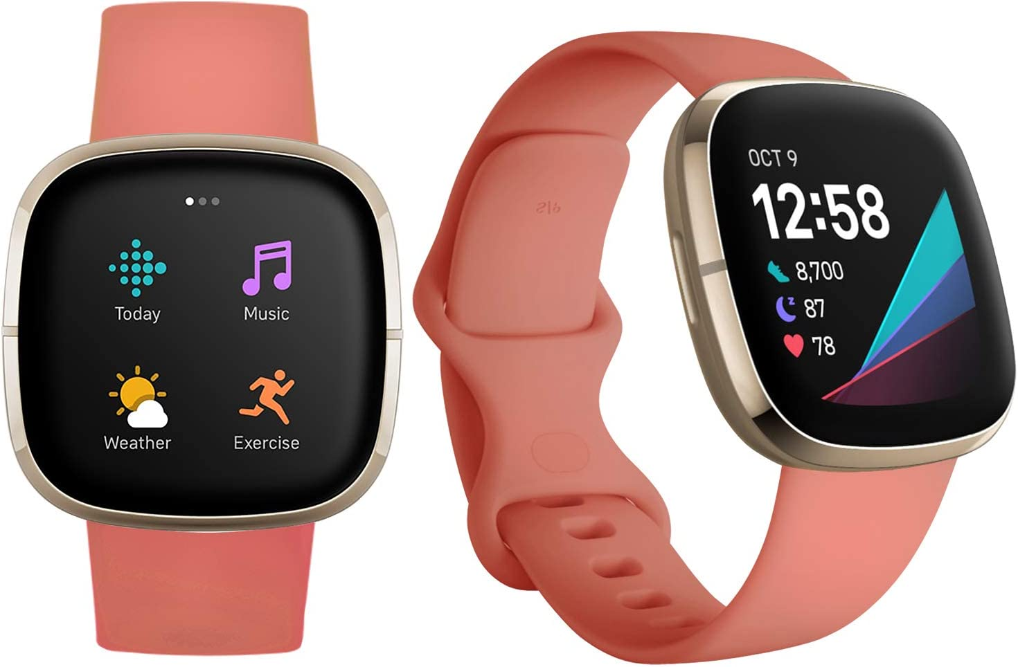,Talla Chico Slivery + Transparente Qeei Pure Colour Sport Correa Compatible con Fitbit Versa 3//Sense,Morado,con 2 Pack Completo Cobertura TPU Protector
