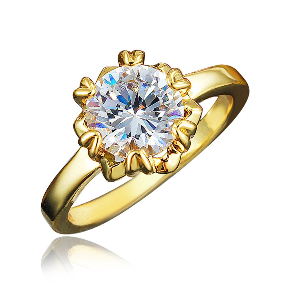 Ring Wedding Birthstone Bride Engagement Square Brand Crown Cross Heart Ring Jewelry