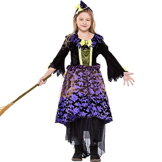 ZIXERN Niños de Disfraces de Halloween Las niñas de la Bruja ...