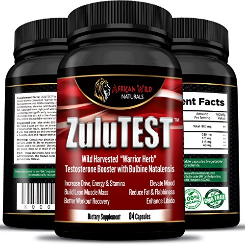 ZuluTEST Natural Testosterone Strength Supplement product image
