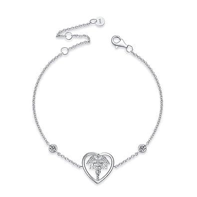 Amazon.com: YFN - Collar con colgante de ángel de Caduceo de ...