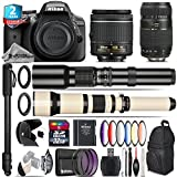 Holiday Saving Bundle for D3300 DSLR Camera + 650-1300mm Telephoto Lens + Tamron 70-300mm Di LD Lens + AF-P 18-55mm + 500mm Telephoto Lens + 6PC Graduated Color Filter Set - International Version