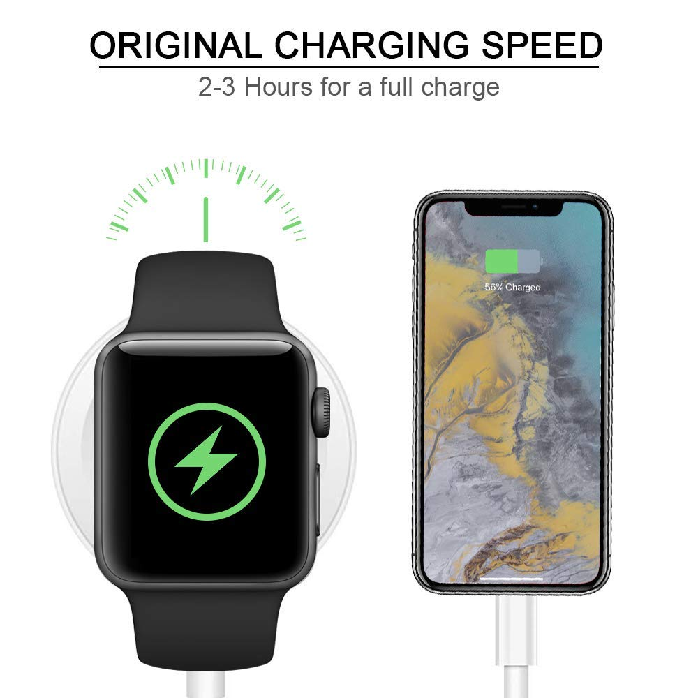 Wireless Charger for Apple Watch, Aproo Portable Magnetic Wireless Charger for Apple Watch Series 4 3 2 1 44mm 40mm 42mm 38mm, Fit for USB Power Strip/Wall Charger, Power Bank