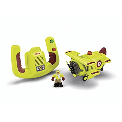 Fisher-Price Transportation System Remote Control Bi-Plane with Loopy Loco & Darren: Toys & Games