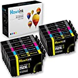 Hawkink Remanufactured Ink Cartridge Replacement for Epson 252 252XL Ink (4 Black, 2 Cyan, 2 Magenta, 2 Yellow) Compatible with Epson Workforce WF-3640 WF-3630 WF-3620 WF-7610 WF-7620 WF-7110 Printer