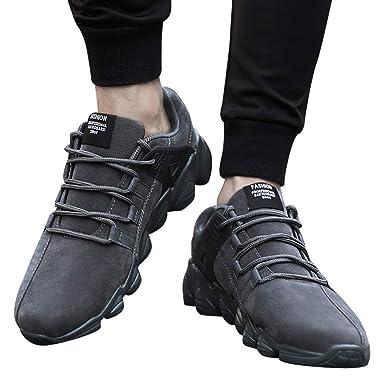 JiaMeng Hombre Zapatillas de Deporte Zapatos Deportivos Aire Libre y Deportes Zapatos Casuales de Moda Zapatos cómodos Calzado Casual Masculino: Amazon.es: ...