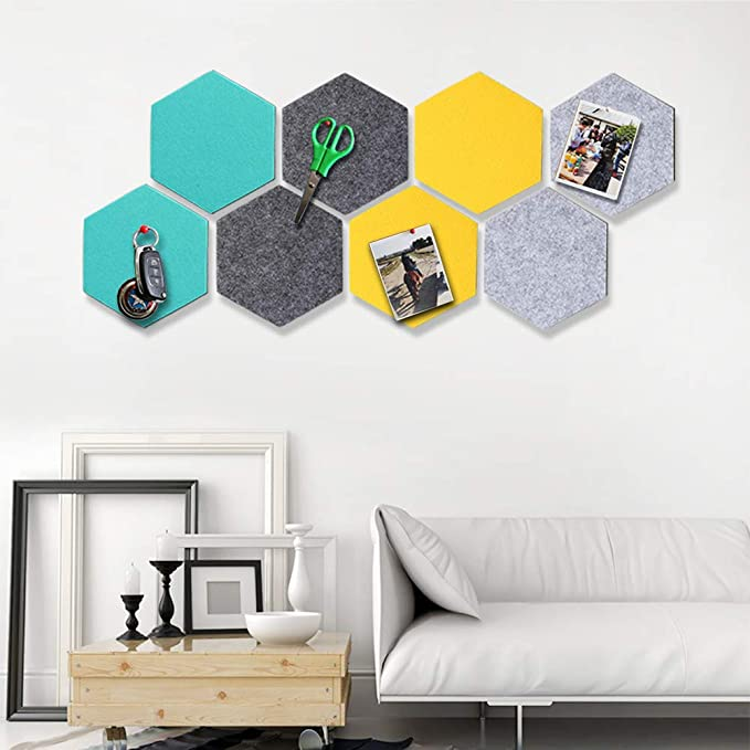 Amazon.com: Yoillione Hexagon - Tablero de fieltro para ...