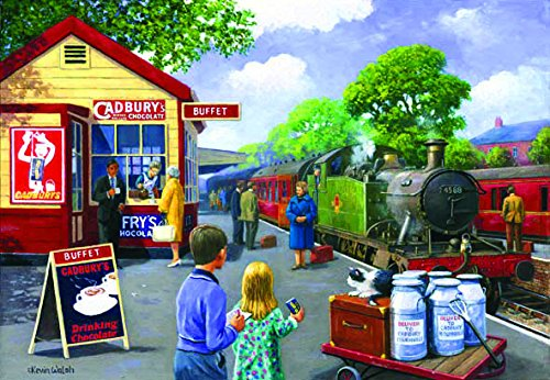 On the Platform 500 Piece Jigsaw Puzzle by SunsOut