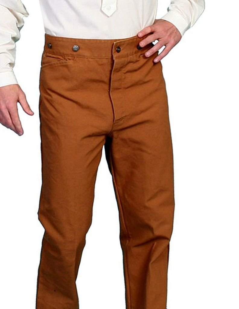 Scully Wahmaker by Men's Wahmaker Canvas Saddle Seat Pants Brown 34