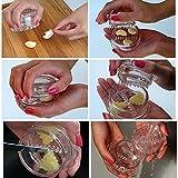 Garlic Crusher Peeler Spice Mincer Stirrer Presser Slicer Ginger Clear Kitchen Tool