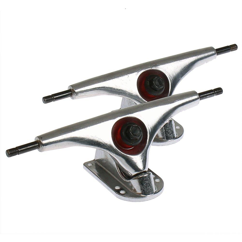 2 Stück FunTomia® Aluminium Longboard Achsen / Achsstiftbreite: 250mm / Hängerbreite: 180mm / Winkel 47°