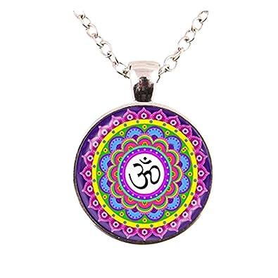 Om collar OM colgante Yoga joyas cristal collar colgante de ...