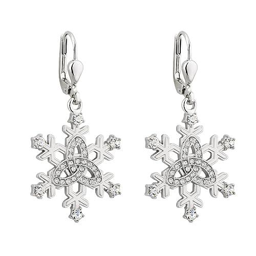 b2fd09d49 Amazon.com: Solvar Snowflake Earrings...: Jewelry