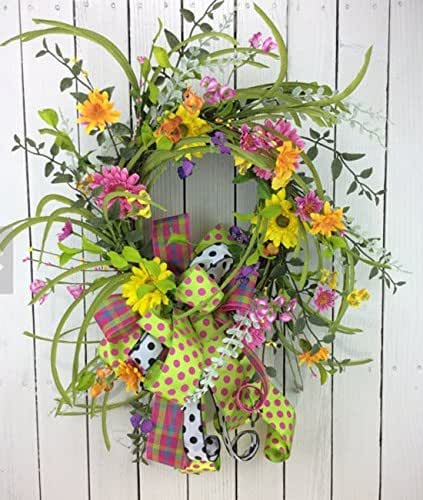 Amazon.com: Summer Wreath, Wildflower wreath, Double door