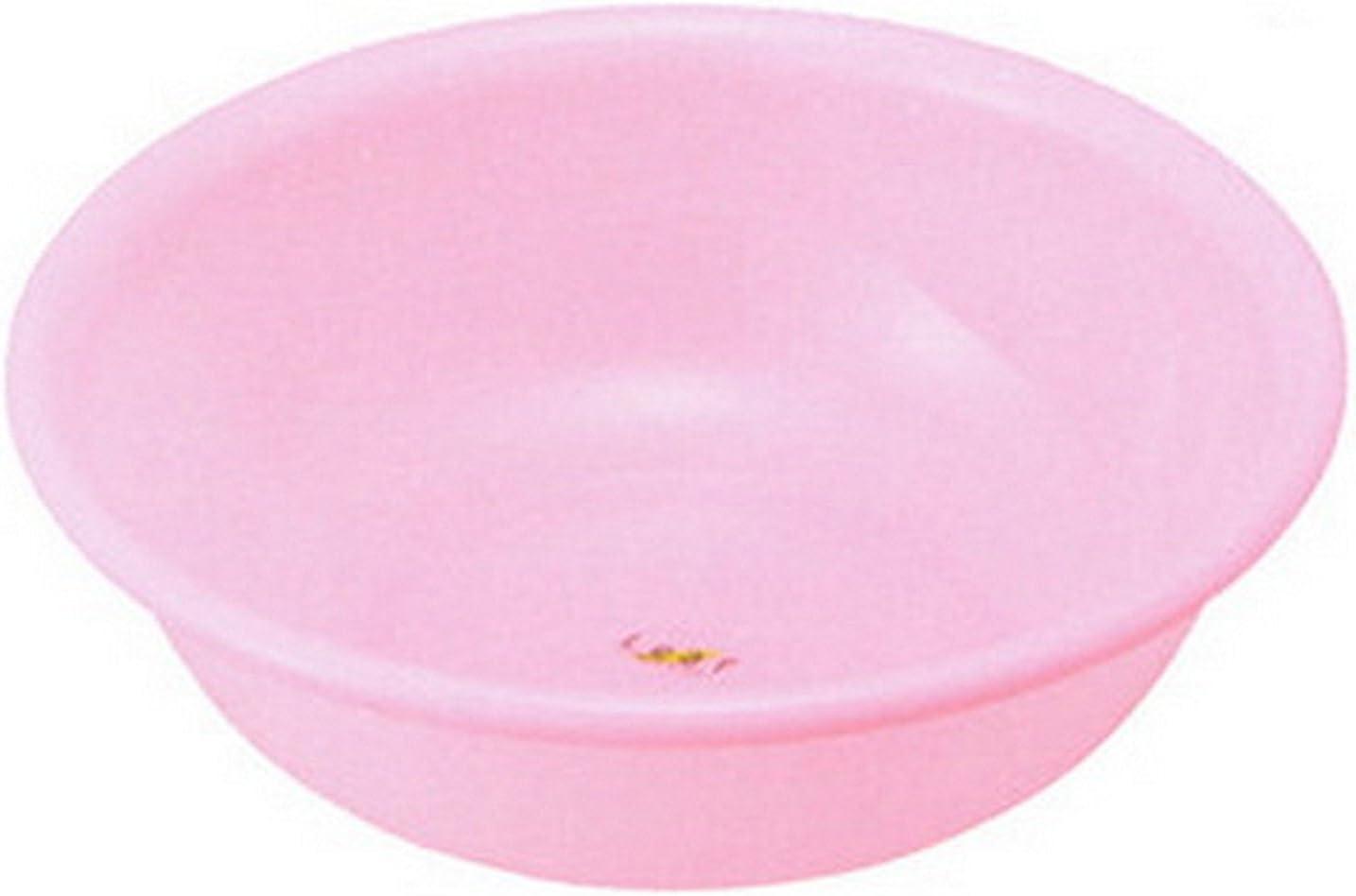 Inomata Japanese Plastic Basin Tub Leaf Series Pink