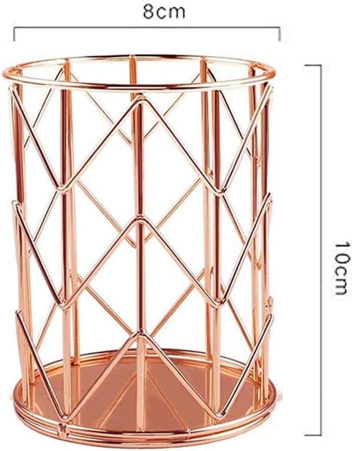 porte stylo or Fiyuer 3 Pcs pot /à crayon dor/é pot rangement pinceaux pot de stylos rose gold noir