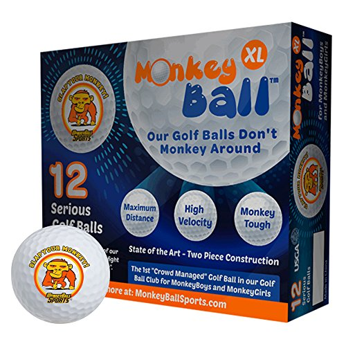 Slap Your Monkey! USGA Best Golf Balls (One Dozen) | Straight Direction Shot-Stopping | Durable Super Soft, Velocity Dimple Design | Embrace Your Vice | High Performance | Best Top Golf Accessories
