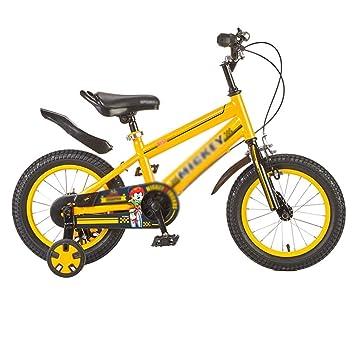 Yellow 16 Inch Kids Bicycle Sports Bike w// Training Wheel Double Braking System