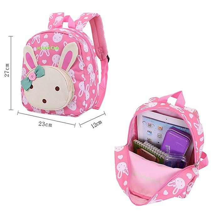 d810c59756 Naerde libro zaino coniglio animali bambini bambino ragazze scuola borsa  rosa: Amazon.it: Valigeria