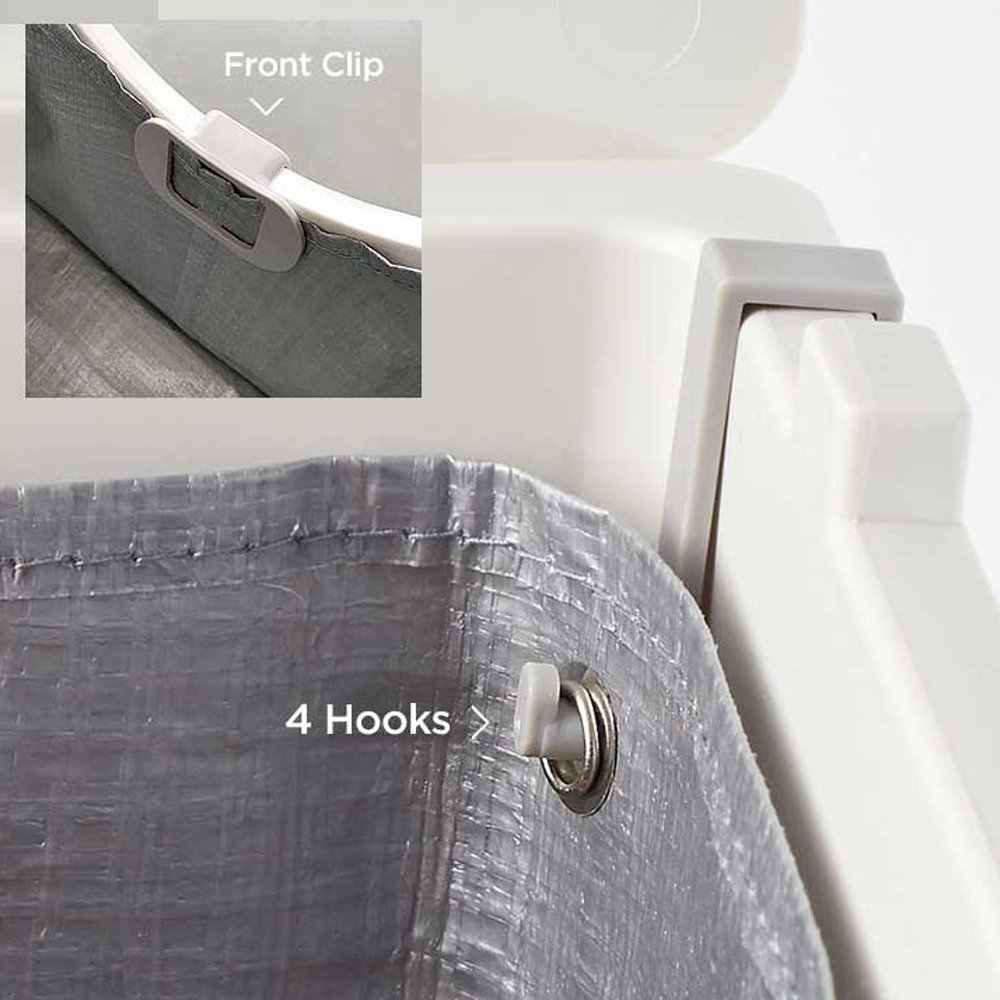 Gray Modkat Flip Litter Box Kit Includes Scoop and Reusable Tarp Liner
