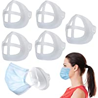 3D Inner Support Frame for Face Mask 5PCS Breathable Reusable Washable Stand Silicone Easy Breathing Comfortable Lipstick Makeup Protection Nose Mouth Cover Bracket Holder Adult Kid No Slip Dubai AE