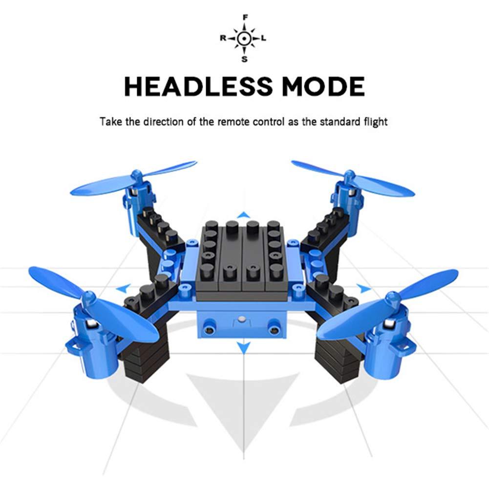 QLPP DIY Drone RC Quadcopter con Bloques de construcción de cámara ...