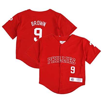 Amazon.com   Outerstuff Domonic Brown MLB Philadelphia Phillies Red ... d034218dad3