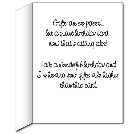 Amazon victorystore jumbo greeting cards giant birthday card amazon victorystore jumbo greeting cards giant birthday card presents 2 x 3 card with envelope birthday greeting cards office products bookmarktalkfo Image collections