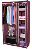 Novatic Heavy Duty Steel Frame Portable Storage Organizer /6 Shelves and 1 Hanging Space/8 Diff. Clrs available
