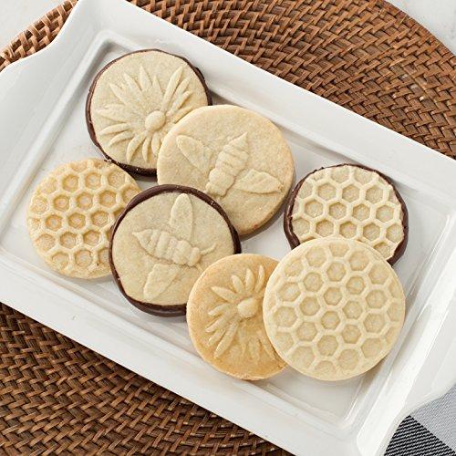 Nordic Ware Honeybee Cast Cookie Stamps, Metallic by Nordic Ware (Image #1)