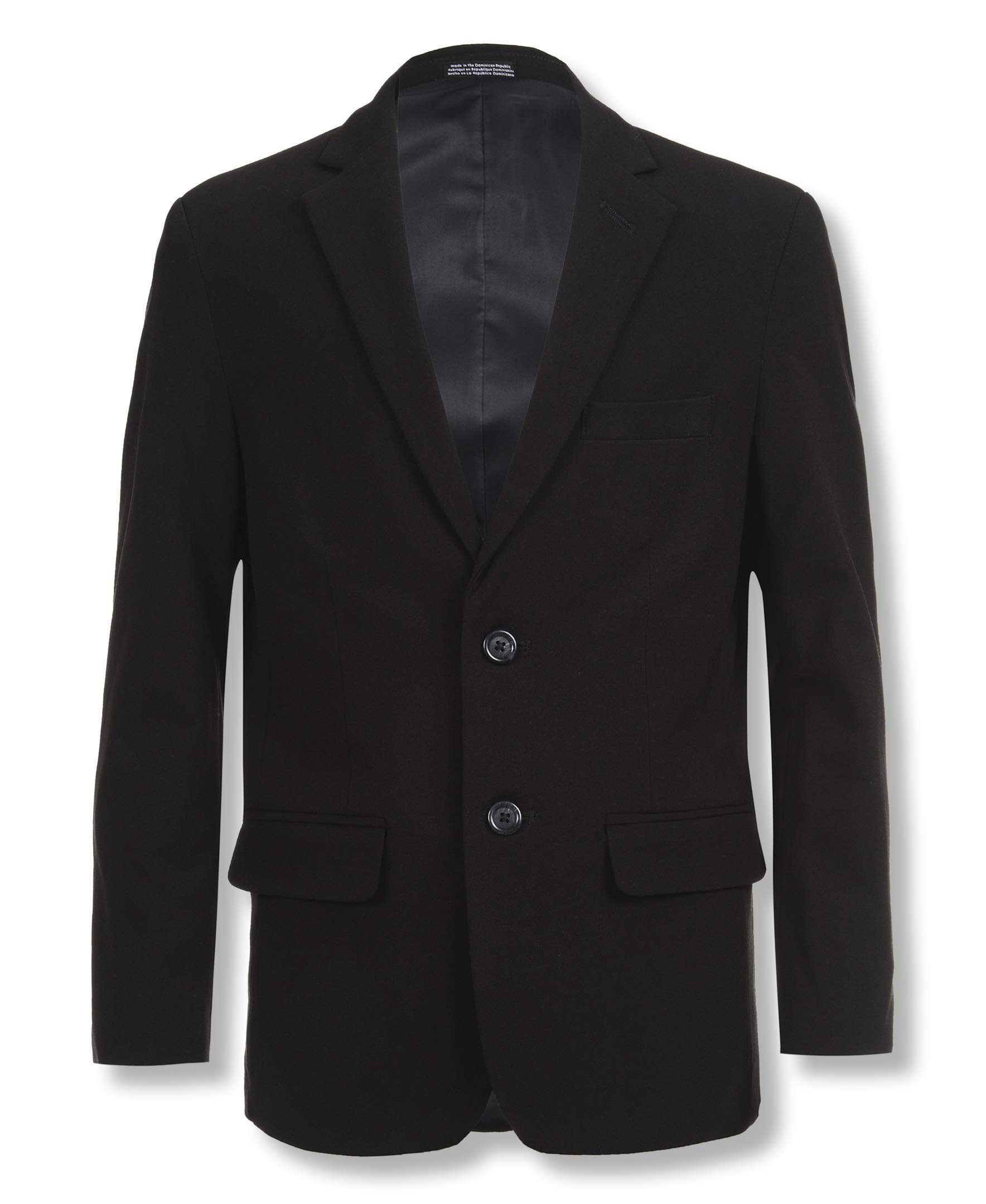 Calvin Klein Big Boys' Bi-Stretch Blazer, Black, 16