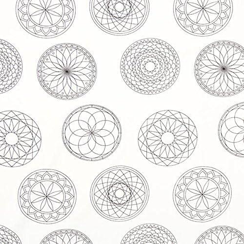 Fabulous Fabrics Tela para Colorear Popelina Mandala – Blanco ...
