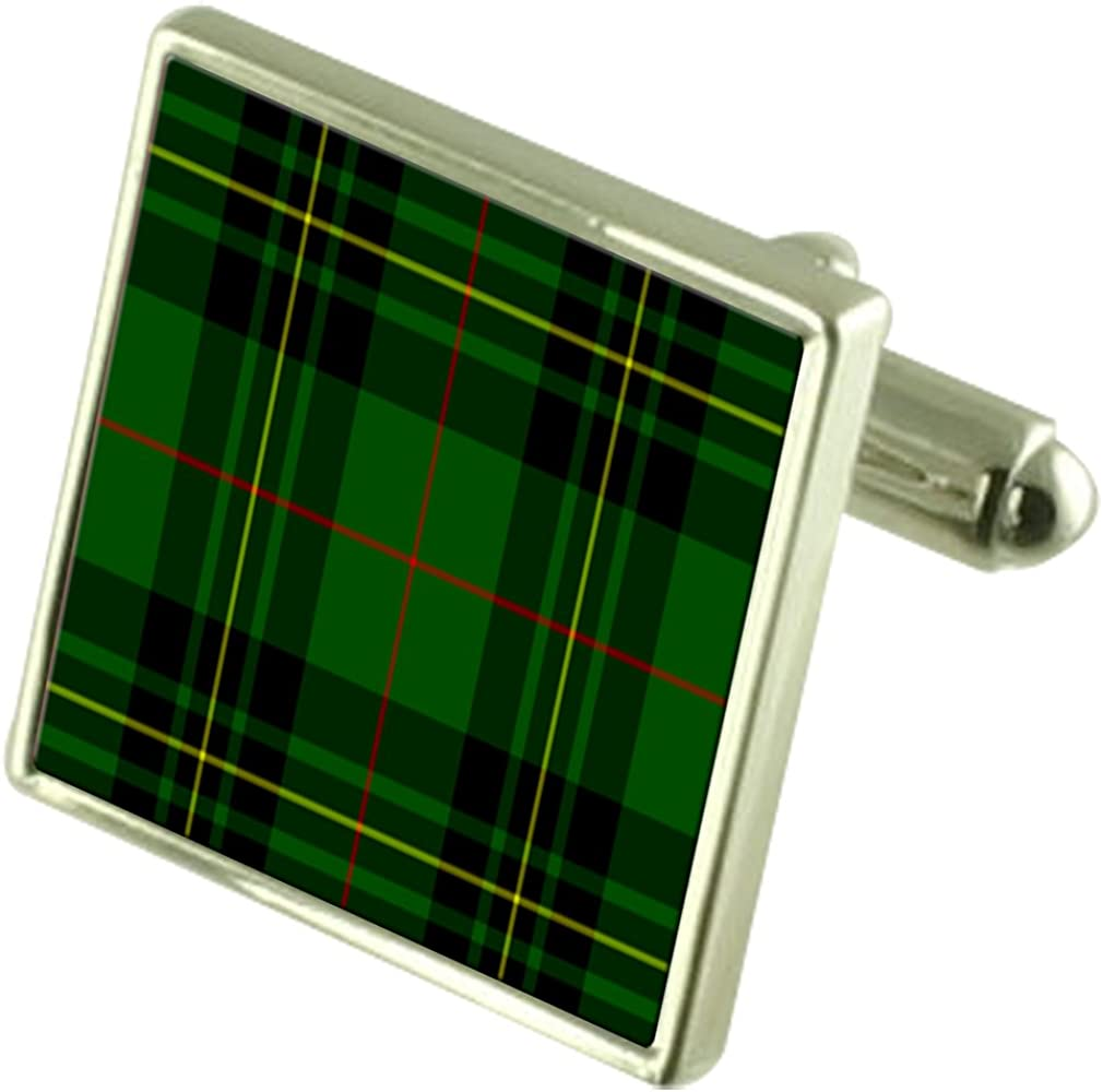 Select Gifts Tartan Clan Forbes Sterling Silver Cufflinks