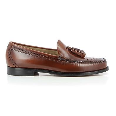 G.H. Bass Weejuns Larkin Brogue Black Leather  Amazon.co.uk  Shoes ... 7e0baf50f