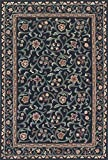 4'0'' X 6'0'' French Tapestry Traditional Black, Teal Area