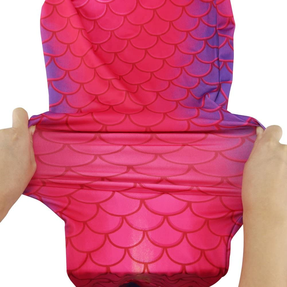 Dressyday Mermaid Tail Swimmable Costume Swimsuit for Girls Swimming with monofin