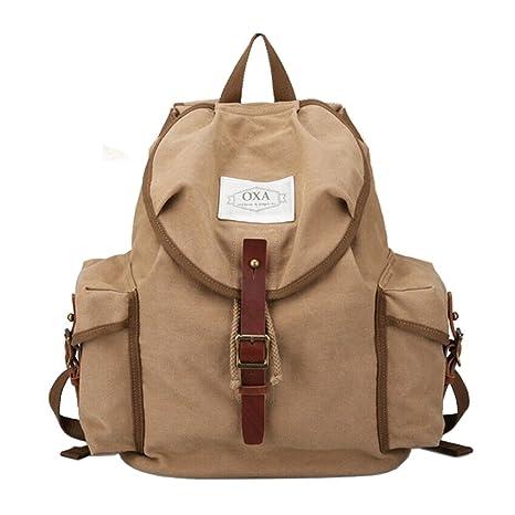 OXA Military Canvas Backpack Computer Bag Laptop Bag Daypack Rucksack  College Bag School Bag Book Bag ca64bc898844d