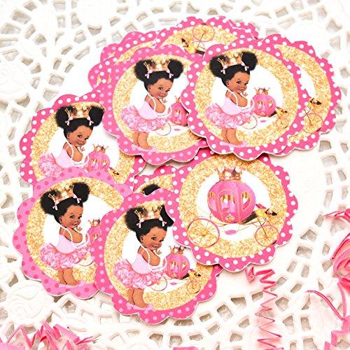 Amazon.com : Princess edible baby shower cake topper, afro ...