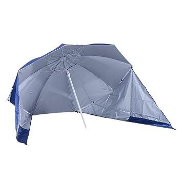 outsunny sombrilla de playa con paneles laterales tipo tienda parasol para proteccin de rayos uv - Sombrillas De Playa Grandes